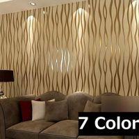 papel minimalista moderna de rayas papel pintado rollo glitter flocado para la pared tv sof plateado