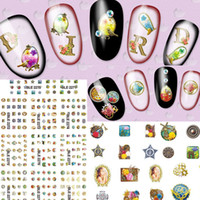 beauty mask photo - 1sets Styles New Water Decals Retro Old Mask Photo Stickers Nail Art Wraps Beauty Tools on Nail Tips Decorations BLE2270