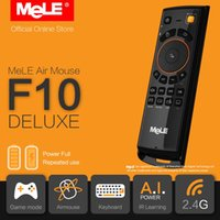 Wholesale Original MeLE F10 Deluxe Fly Air Mouse Mini Wireless Keyboard Remote Control GHz Gyro IR Learning for Android TV Box PC MAC