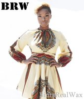 africa cotton - Hot sale Womens Fall Fashion Private Custom Africa Print Dresses Wax African Clothing Made Your Own Unique