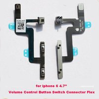 Wholesale For Iphone G Mute Volume Control Button Switch Connector Flex Cable replacement parts inch