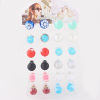 Wholesale Fashion Mix Colors High Quality Double Sided Pearl Earrings Double Stud Earrings Double Pearl Stud Earrings for Women