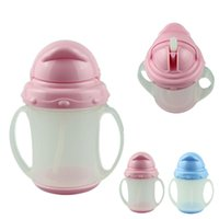Wholesale Essential Pink ml new baby drinkware water bottle training bottle Soft Straw Kit Child A5