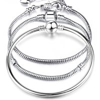 Wholesale 8 Style Silver LOVE Snake Chain Bracelet Bangle CM CM Pulseras Lobster