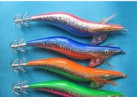 big game hunt - Hunting and fishing soft Baits Lures new style squid jigs five colour mixed cm length