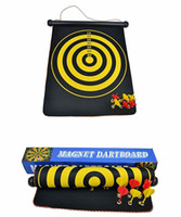 Wholesale new indoor sport double target dart magnetic flocking dartboard board double thickening Flocking hard darts plate use double sided inch