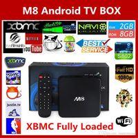 Cheap Amlogic S802 Smart M8 Quad Core 2G 8G Android 4.4 Kodi 14.0 Rooted TV Box Kodi XBMC Fully Loaded Mali450 4K H265 2.4GHz Wifi Mini PC