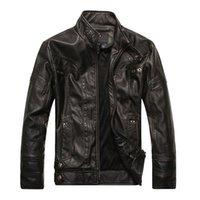 Wholesale Fashion Men s Leather Motorcycle Coats Jackets Washed Leather Coat MD607