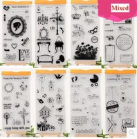 Wholesale Mixed Classic Transparent Clear Silicone Stamps for DIY Scrapbooking Card Making Kids Christmas Fun Decoration Supplies