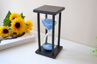 Wholesale X inch Black wooden Blue sand sandglass Hourglass Timer min decor xmas gift