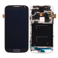 Wholesale HK Post For SAMSUNG Galaxy S4 I9500 I9505 M919 I337 I545 L720 LCD Display Touch Screen Digitizer Assembly Frame Spare Parts ASA012