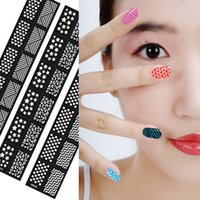Wholesale New Flower Stamping Nail Art Hollow Templates Airbrush Stencils Stickers Reusable Stamp Plates Template Guide DIY Tools
