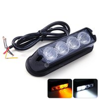Wholesale Car Truck LEDs Strobe Emergency Warning Flash Light V W Amber White Light