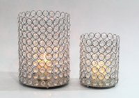 Wholesale Wedding decoration Crystal beaded bling votive candle holder tealight holder x12x19cm HWB S