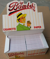 Wholesale BIG BAMBU SIZE mm mm cigarette rolling paper booklets a box papers a booklet for mm rolling machine grinder glass bong hot