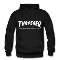 Wholesale winter men Thrasher skateboard Hip Hop Hoodies Hooded sweatshirts Fleece Pullover man Sportswear Tracksuit