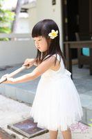 Cheap HB0024 Girl dress summer vest white princess dress cute flowers kid's clothing retail wholesale free shipping Honey Baby