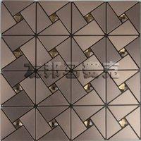aluminum lattice - AIA metal aluminum composite panel mosaic triangular lattice tea tea mosaic backdrop of low self adhesive drilling