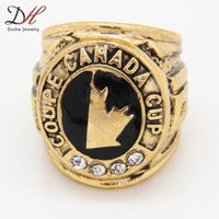 Cheap Defective 2014 fashion sport Jewelry Team 1991 Canada Hockey Cup championship ring Men's Jewelry 1 Pcs