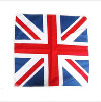 Wholesale 10PX United kingdom UK Union Jack flag bandana Head Wrap Scarf Neck Warmer Double Sided Print Zandana COTTON BIKER COW BOY GIRL