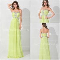 Cheap Lime Green Bridesmaid Dresses 2015 Crystal Sweetheart Lace Up Plus Size Empire Long Chiffon Prom Dress Formal Dresses Evening Gowns BZP0485