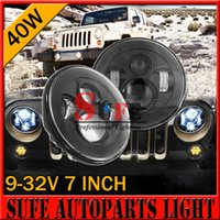 Wholesale 7 W JEEP Wrangler CREE LED Headlight For Motorcycle H4 Hi lo Beam PAR56 Front Driving Headlamp Car Styling Head Light For Land Rover