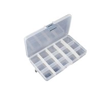Wholesale Detachable Clear Plastic Divided Storage Box Adjustable Plastic Compartment Storage Box Earring Jewelry Bin Case Container