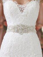 arrival custom belt - 2015 New Arrival Bridal Belts Exquisite Crystal Beads Wedding Dress Belts Custom Made Dhyz