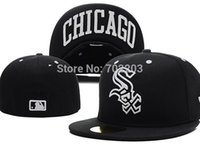 Wholesale Chicago White Sox Embroidery Letter Fitted Hat Men Women Structured Fit Classic Sport Baseball Cap