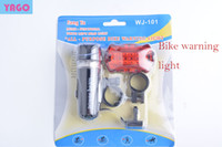 Wholesale 10PCS Waterproof Ultra Bright LED Cycling Bicycle Light Set Bike Front Head Light Lamp LED Rear Safety Flashlight Taillight