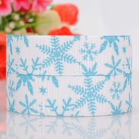 yard decorations for christmas - 2015 Hot quot Yards Snowflakes Snow Print Grosgrain Ribbon Webbing for Christmas Tree Hairbow DIY Party Decoration Styles OEM mm