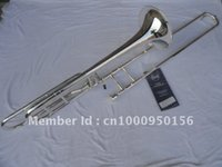Wholesale Very nice gifts Copy Bach BO sandhi tenor silver plated trombone instrument