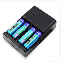 1.5v battery charger - KENTLI v mWh mAh rechargeable Lithium AA battery slots AA AAA Charger set