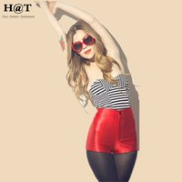 high waisted shorts - SH68 Celebrity Style Women High Waisted Neon Metallic Disco Shorts HotPants Ladies Hotpant Candy Color Plus Size