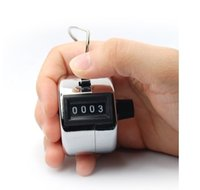 Wholesale 1PC World Pride Digit Number Clicker Golf Hand Tally Click Counter Silver Z185