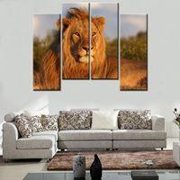 Cheap Home Decor HD Print Modern ait art painting on canvas(No frame) The Lion King 10x28inchx4 4pc