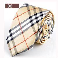 bulk yarn - New Men Tie Length CM wide bulk CM Color Striped Narrow Neckties Men s Business Gift neck ties