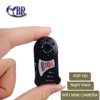 Wholesale 2015 NEW HD P2P micro wireless hidden mini Remote Surveillance wifi camera night vision camcorder Video Recorder FOR Android and IOS PC
