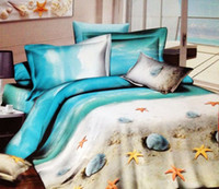 beach bedroom sets - D Beach ocean cotton designer bedding comforter sets queen size bedspread duvet cover bed in a bag sheet quilt bedroom