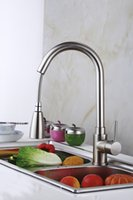 Wholesale high quality luxury cm tallbrush nickle brass pull out spray rotating kitchen sink faucet mixer tap