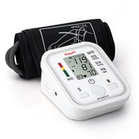 Wholesale 2015 Electronic Portable Digital Blood Pressure Monitor Pumps Device Apparatus For Gauge Heart Rate Medical Tonometer YR B02B V