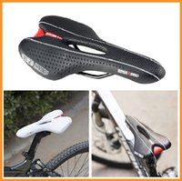 Wholesale BaseCamp Mountain Bike Bicycle Cycling Hollow Saddle Breathable Comfort Seat Cushion for Bike Black White Via DHL
