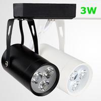 Wholesale Hot sale Black White Shell W W W W W W W Led Track Lights Warm Natural Cool White AC V CE ROHS