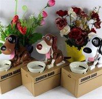 Wholesale New Dog coin piggy bank Dog saving money box coin bank eat money dog kids gift DHL