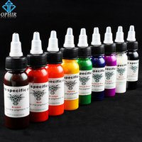 Wholesale Tattoo Body Art Tattoo Inks OPHIR Colors Tattoo Inks Pigment ml bottle High Quality Tattoo Colors Inks Body Tattoo Art Supply _TA021