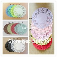 100% Cotton lace doilies - quot Inch Colorful colors can choose Flower Paper Lace Doilies Paper Craft Doyley Wedding Cards