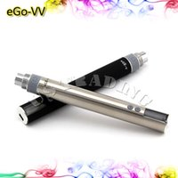 Wholesale eGo vv Battery LCD Electronic Cigarette Battery mAh Variable Voltage Battery with Pin Charger Cable Gift Box