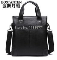Wholesale 2015 BOSTANTEN B10802 men s business casual genuine leather male handbag messenger bag briefcase