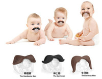 baby dummies - Novelty Funny Mustache Baby Boy Girl Infant silicone Pacifier Orthodontic Dummy Beard Nipples