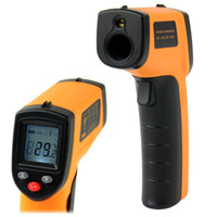Wholesale New Infrared Thermometer Non Contact LCD IR Laser Infrared Digital Temperature Thermometer Gun Point GM320 ºC to oF A437